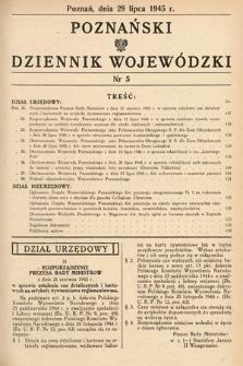 Poznański Dziennik Wojewódzki. 1945, nr5