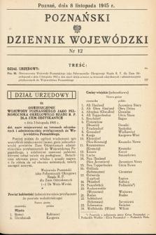Poznański Dziennik Wojewódzki. 1945, nr12