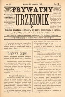 Prywatny Urzędnik : tygodnik zawodowy, polityczny, społeczny, ekonomiczny i literacki. 1901, nr23