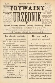 Prywatny Urzędnik : tygodnik zawodowy, polityczny, społeczny, ekonomiczny i literacki. 1901, nr25
