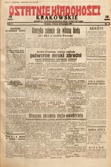 Ostatnie Wiadomości Krakowskie : gazeta popołudniowa dla wszystkich. 1932, nr16