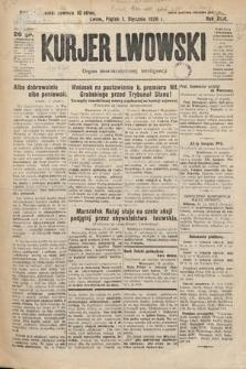 Kurjer Lwowski : organ demokratycznej inteligencji. 1926, nr1