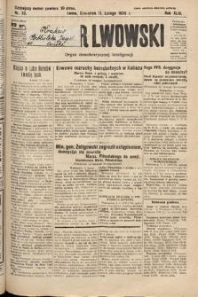 Kurjer Lwowski : organ demokratycznej inteligencji. 1926, nr33