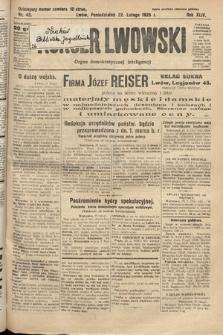 Kurjer Lwowski : organ demokratycznej inteligencji. 1926, nr43