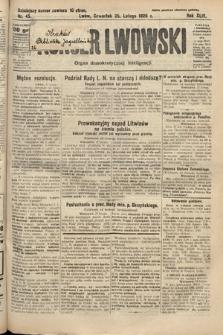 Kurjer Lwowski : organ demokratycznej inteligencji. 1926, nr45