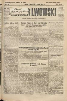 Kurjer Lwowski : organ demokratycznej inteligencji. 1926, nr46