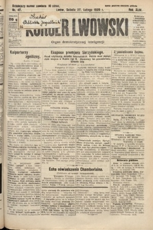 Kurjer Lwowski : organ demokratycznej inteligencji. 1926, nr47