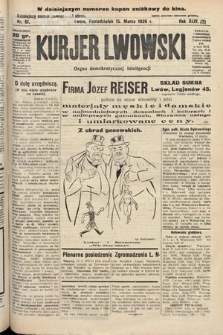 Kurjer Lwowski : organ demokratycznej inteligencji. 1926, nr61