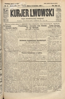 Kurjer Lwowski : organ demokratycznej inteligencji. 1926, nr81