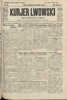 Kurjer Lwowski : organ demokratycznej inteligencji. 1926, nr85