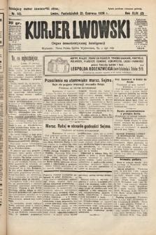 Kurjer Lwowski : organ demokratycznej inteligencji. 1926, nr141