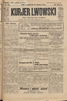 Kurjer Lwowski : organ demokratycznej inteligencji. 1926, nr147