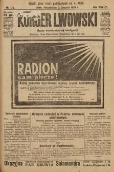 Kurjer Lwowski : organ demokratycznej inteligencji. 1926, nr176