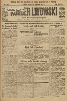 Kurjer Lwowski : organ demokratycznej inteligencji. 1926, nr195