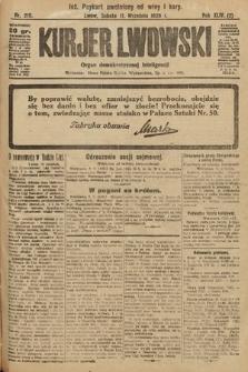 Kurjer Lwowski : organ demokratycznej inteligencji. 1926, nr210