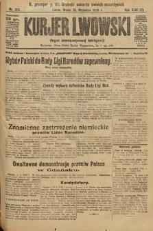 Kurjer Lwowski : organ demokratycznej inteligencji. 1926, nr213