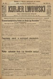 Kurjer Lwowski : organ demokratycznej inteligencji. 1926, nr214