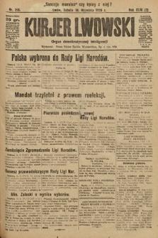 Kurjer Lwowski : organ demokratycznej inteligencji. 1926, nr216