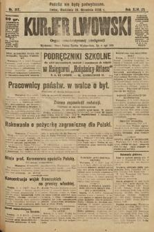 Kurjer Lwowski : organ demokratycznej inteligencji. 1926, nr217