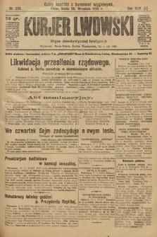 Kurjer Lwowski : organ demokratycznej inteligencji. 1926, nr225