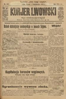 Kurjer Lwowski : organ demokratycznej inteligencji. 1926, nr227