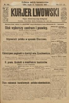 Kurjer Lwowski : organ demokratycznej inteligencji. 1926, nr245