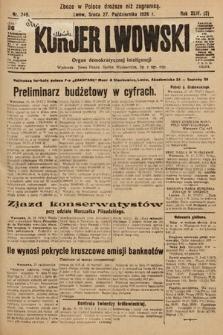 Kurjer Lwowski : organ demokratycznej inteligencji. 1926, nr249