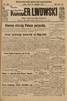 Kurjer Lwowski : organ demokratycznej inteligencji. 1926, nr260