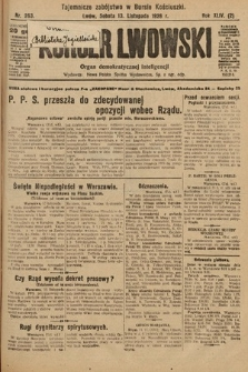 Kurjer Lwowski : organ demokratycznej inteligencji. 1926, nr263
