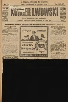 Kurjer Lwowski : organ demokratycznej inteligencji. 1926, nr277