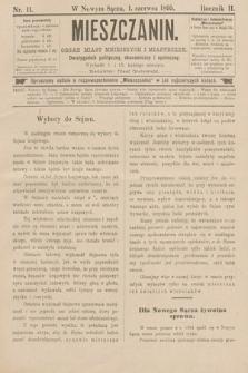 Mieszczanin : organ miast mniejszych imiasteczek : dwutygodnik polityczny, ekonomiczny ispołeczny. 1895, nr11