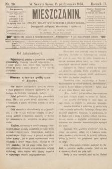 Mieszczanin : organ miast mniejszych imiasteczek : dwutygodnik polityczny, ekonomiczny ispołeczny. 1895, nr20