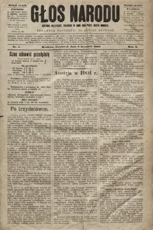 Głos Narodu : dziennik polityczny, założony w roku 1893 przez Józefa Rogosza (wydanie poranne). 1902, nr1