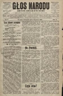 Głos Narodu : dziennik polityczny, założony w roku 1893 przez Józefa Rogosza (wydanie poranne). 1902, nr6