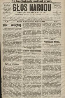 Głos Narodu : dziennik polityczny, założony w roku 1893 przez Józefa Rogosza (wydanie poranne). 1902, nr9 (po konfiskacie nakład drugi)