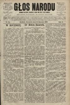 Głos Narodu : dziennik polityczny, założony w roku 1893 przez Józefa Rogosza (wydanie poranne). 1902, nr18
