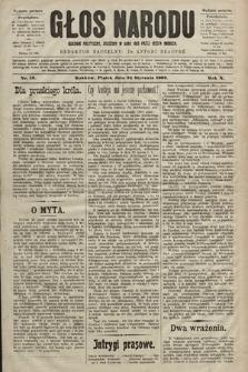 Głos Narodu : dziennik polityczny, założony w roku 1893 przez Józefa Rogosza (wydanie poranne). 1902, nr19