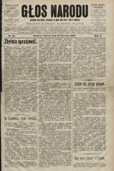 Głos Narodu : dziennik polityczny, założony w roku 1893 przez Józefa Rogosza (wydanie poranne). 1902, nr20