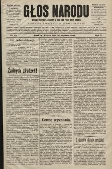 Głos Narodu : dziennik polityczny, założony w roku 1893 przez Józefa Rogosza (wydanie poranne). 1902, nr25