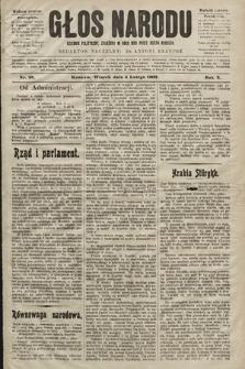 Głos Narodu : dziennik polityczny, założony w roku 1893 przez Józefa Rogosza (wydanie poranne). 1902, nr28