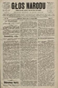 Głos Narodu : dziennik polityczny, założony w roku 1893 przez Józefa Rogosza (wydanie poranne). 1902, nr29