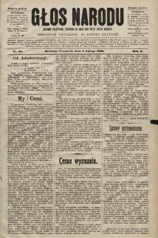 Głos Narodu : dziennik polityczny, założony w roku 1893 przez Józefa Rogosza (wydanie poranne). 1902, nr30
