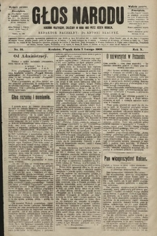 Głos Narodu : dziennik polityczny, założony w roku 1893 przez Józefa Rogosza (wydanie poranne). 1902, nr31