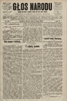 Głos Narodu : dziennik polityczny, założony w roku 1893 przez Józefa Rogosza (wydanie poranne). 1902, nr32