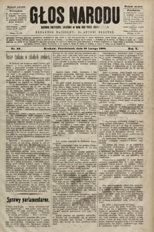 Głos Narodu : dziennik polityczny, założony w roku 1893 przez Józefa Rogosza (wydanie poranne). 1902, nr33