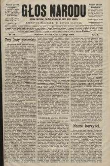 Głos Narodu : dziennik polityczny, założony w roku 1893 przez Józefa Rogosza (wydanie poranne). 1902, nr34