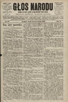Głos Narodu : dziennik polityczny, założony w roku 1893 przez Józefa Rogosza (wydanie poranne). 1902, nr35