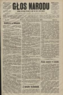 Głos Narodu : dziennik polityczny, założony w roku 1893 przez Józefa Rogosza (wydanie poranne). 1902, nr37