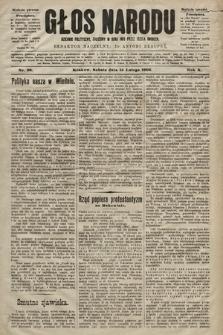 Głos Narodu : dziennik polityczny, założony w roku 1893 przez Józefa Rogosza (wydanie poranne). 1902, nr38