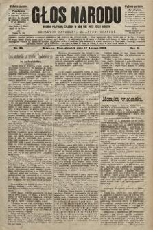 Głos Narodu : dziennik polityczny, założony w roku 1893 przez Józefa Rogosza (wydanie poranne). 1902, nr39